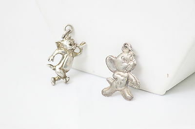 Tom & Jerry Sterling Silver Pendant Charms Hanna Barbera