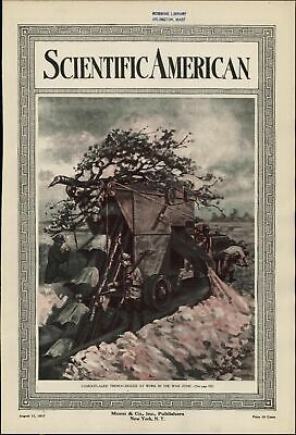 Camouflaged Trench-Digger vehicles War 1917 vintage WWI color cover