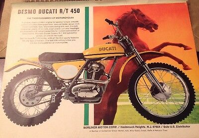 5 Pages Vintage Motorcycle Road Test and 2 Beautiful Ads 1971 Ducati 450 RT