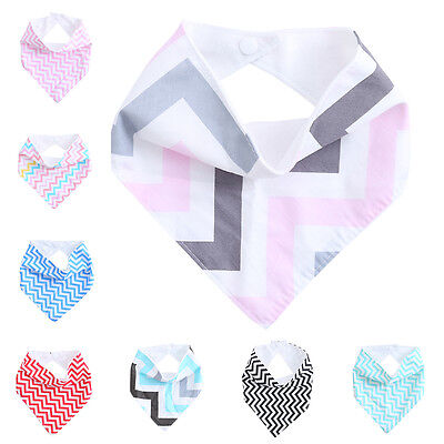 Kids Infant Baby Saliva Towel Triangle Head Scarf Bandana Dribble Feeding Bibs