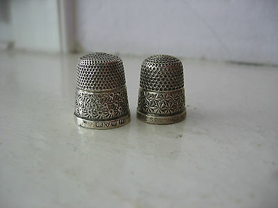 2 Silver Thimbles- 1 Daisy--- 1 Asterisk Patterns. £7.50 Each
