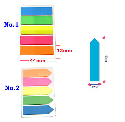 Sticky Adhesive Coloured Index Notes Memo Page Marker Tabs Flags Quality Eco