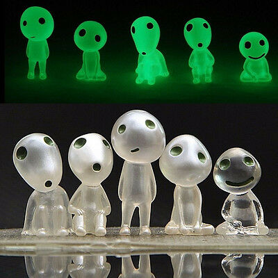 Sets of 5 studio GHIBLI Princess Mononoke Forest Spirit Elf Kodama Glow in dark