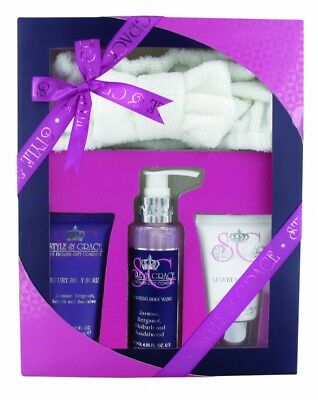 Style & Grace Signature Relax And Sleep Gift Set 120Ml Body Wash + 70Ml Body Scr