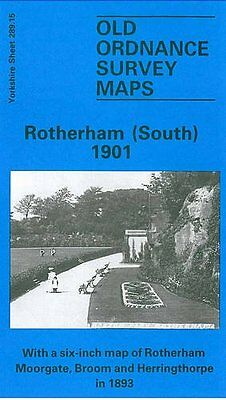 Old Ordnance Survey Map Rotherham (South) 1901