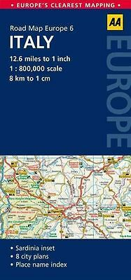 6. Italy: AA Road Map Europe by AA Publishing (Sheet map, folded, 2014)
