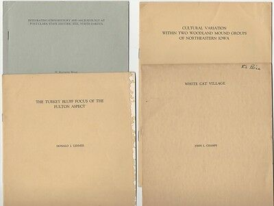 4 American Antiquity Ethnographic Reprints: Iowa Mound Builders, North Dakota +