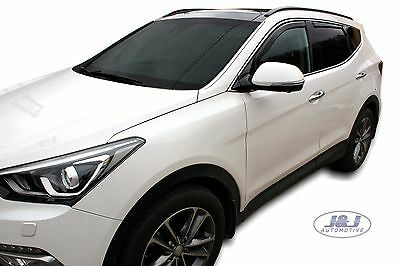 DHY17280  Hyundai Santa Fe Mk3 2012-2018  wind deflectors 4pc set TINTED HEKO