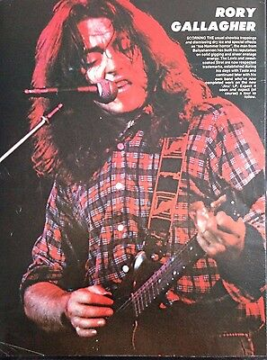 Rory Gallagher - 1 Page Poster From Vintage Kerrang! Magazine.
