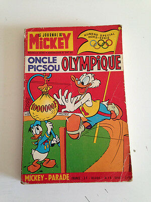 MICKEY PARADE    N° 847 Bis   DE 1968  Oncle PICSOU OLYMPIQUE