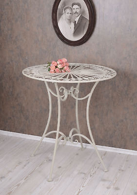 Garden table White Table Shabby Chic metal table round table