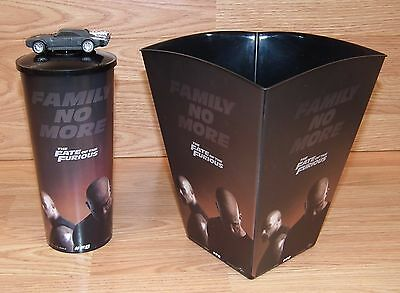 """""""The Fate of the Furious"""" F8 Movie Promotion 160oz Popcorn Bucket & 44oz Cup!"""