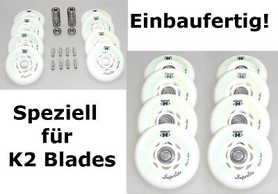 4/8er HYPER Rolle SUPERLITE 84mm K2 Inliner Option: fertig montiert ABEC7+Spacer