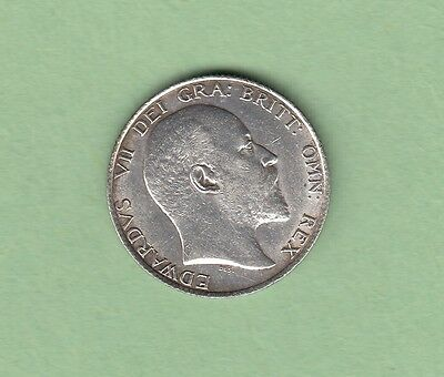 1902 Great Britain 1 Shilling Silver Coin - Edward VII - EF