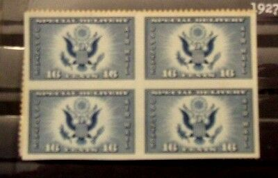 U.S Postage BLOCK OF 4 - 16 c  AIRMAIL SPECIAL DELIVERY Stamp