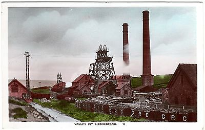 Colour R.p. Postcard Valley Pit-Cannocks-Rugeley Colliery-Hednesford-Staffs 1928