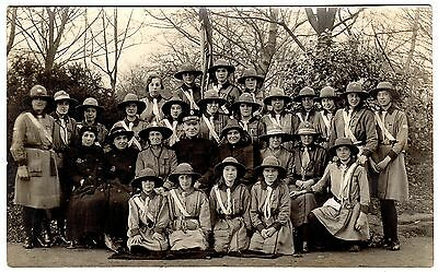 Real Photo Postcard Salvation Army-Life Saving Girl Guards Newcastle Troop 1924