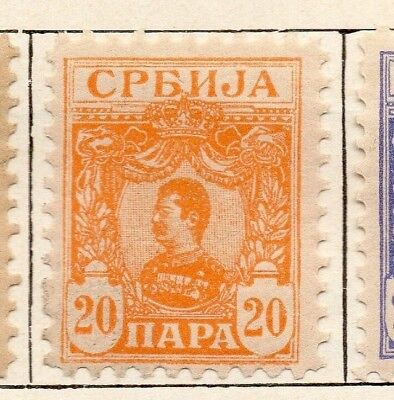 Serbia 1901-02 Early Issue Fine Mint Hinged 20pa. 150431
