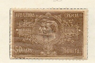 Serbia 1904 Early Issue Fine Mint Hinged 50pa. 150444