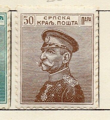 Serbia 1911 Early Issue Fine Mint Hinged 50pa. 150456