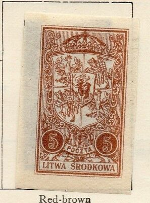 Lithuania 1921 Early Issue Fine Mint Hinged 5m. 150512