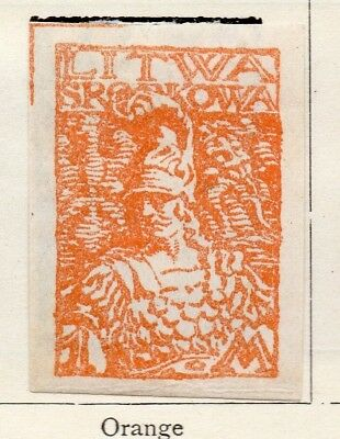 Lithuania 1920 Early Issue Fine Mint Hinged 1m. 150534