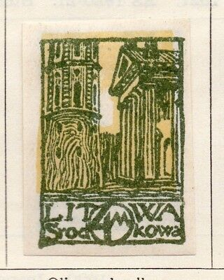 Lithuania 1920 Early Issue Fine Mint Hinged 4m. 150536