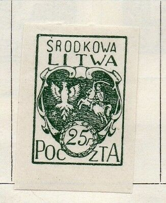 Lithuania 1920-21 Early Issue Fine Mint Hinged 25f. 150546