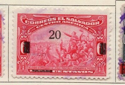 Salvador 1923 Early Issue Fine Used 20c. Surcharged 150554