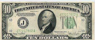 Fantastic 1934-D United States $10 Silver Certificate Currency Note NI685