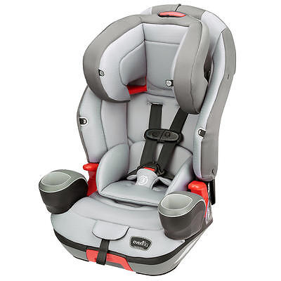 Evenflo Evolve 3-in-1 Booster Car Seat - Charcoal Stripe