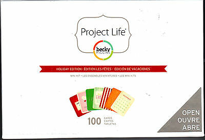 Becky Higgins PROJECT LIFE MINI KIT-HOLIDAY EDITION (100) Cards 380044