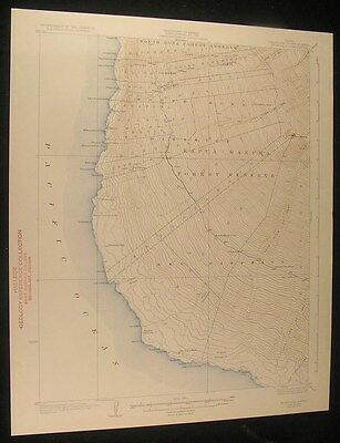Hoopuloa Hawaii Kapua Manuka Forest Reserve 1933 antique color lithograph map