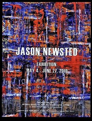 2010 Jason Newsted painting art exhibition SFC gallery vintage print ad