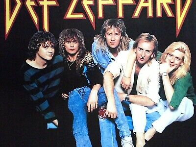 """Def Leppard / Orig.vint.Poster / Group - black / Exc. New cond. / 23 x 34"""""""