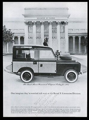 1964 Land Rover SUV Concours d'Elegance photo vintage print ad