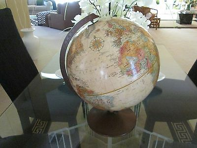"nice Replogle WORLD CLASSIC Series 12"" World Globe Desk Top RAISED RELIEF"