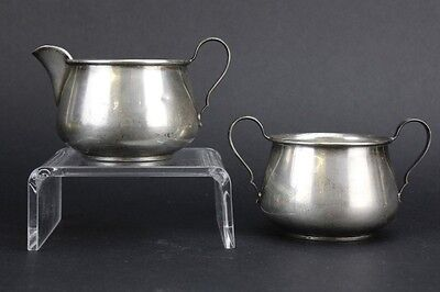 Vintage Reed Barton Solid Sterling Silver Open Coffee Creamer Sugar Set NR MHH