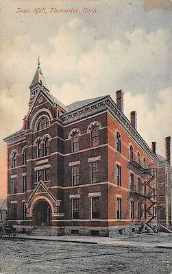 THOMASTON, CT ~ TOWN HALL, SCHMELZER PUB #12 ~ used 1909