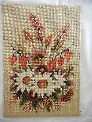 Tapestry Craft Picture Completed Unframed  Australian Wild Flowers