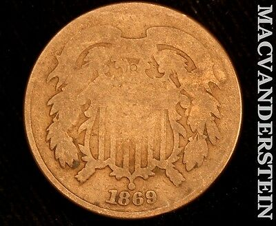 1869 Shield Two Cent- Scarce !! Better Date !! #r5815