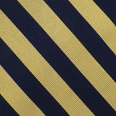 BROOKS BROTHERS Navy Yellow STRIPED Woven Silk Tie NWT