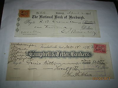 Group Of 1800S- Bank Checks!! Lotm-202