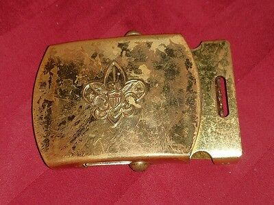 Vintage Boy Scouts Of America Solid Brass Belt Buckle Made In The USA BSA RARE