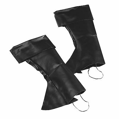 Uomo Black Boot TOP COVERS TUDOR MEDIEVALE Peter Pan Costume da pirata