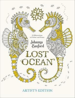 NEW Lost Ocean Artist's Edition By Johanna Basford Paperback Free Shipping