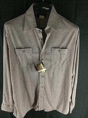 New Vintage 70's Mens Carlton By Arrow Bi-Nell Long-Sleeve Casual Shirt Large