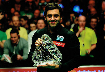 Ronnie O'SULLIVAN SIGNED Autograph 12x8 Photo AFTAL COA Dafabet Snooker Champion
