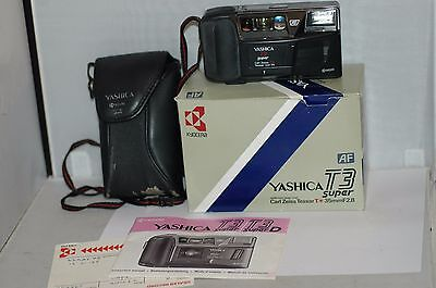 Yashica T3 Super   35 Mm Film Camera : Working.carl Zeiss .t. Star  Lens.