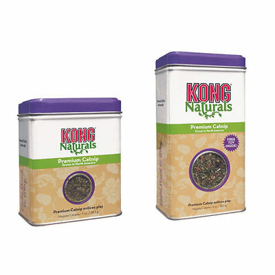 KONG PREMIUM CATNIP TIN TREAT CAT/KITTEN POTENT TOY- 2 SIZES 1oz/2oz